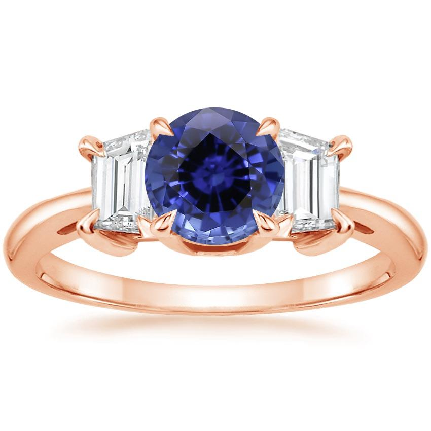 Rose Gold Sapphire Embrace Diamond Ring