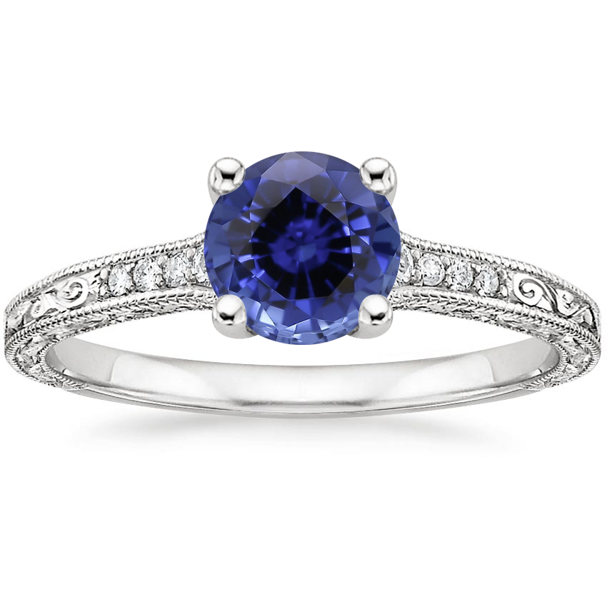 Sapphire Luxe Hudson Diamond Ring (1/10 ct. tw.) in 18K White Gold
