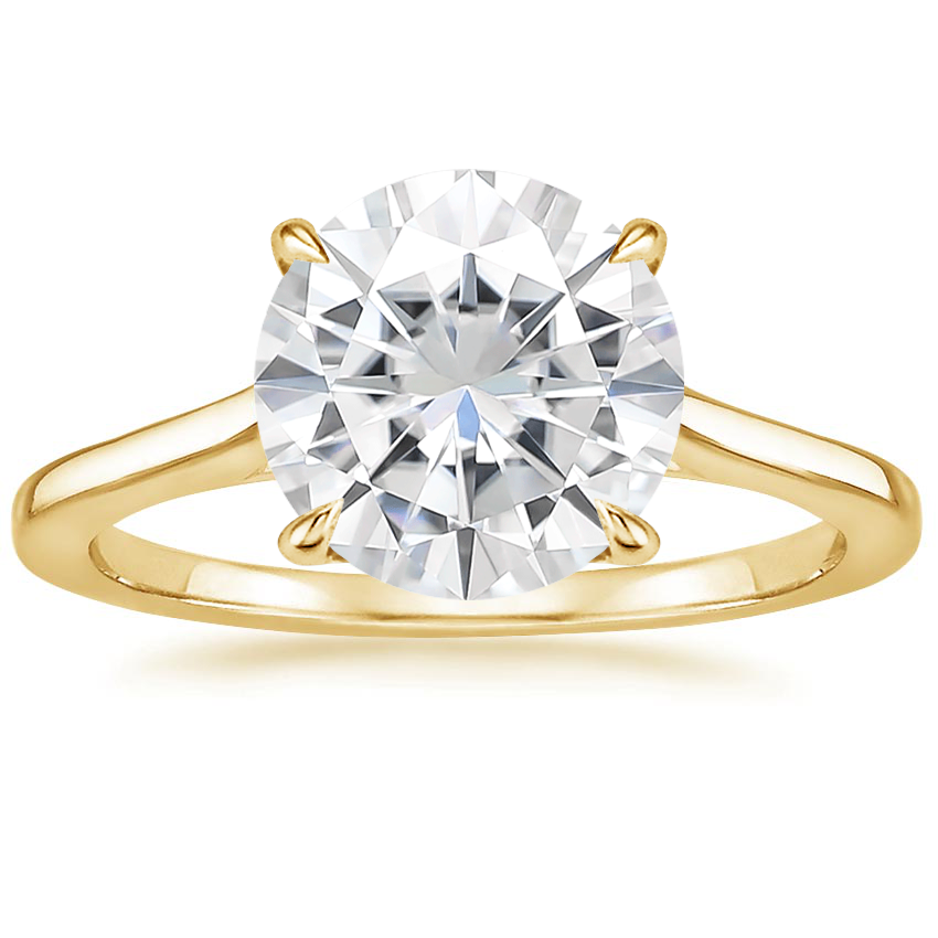 Yellow Gold Moissanite Provence Ring