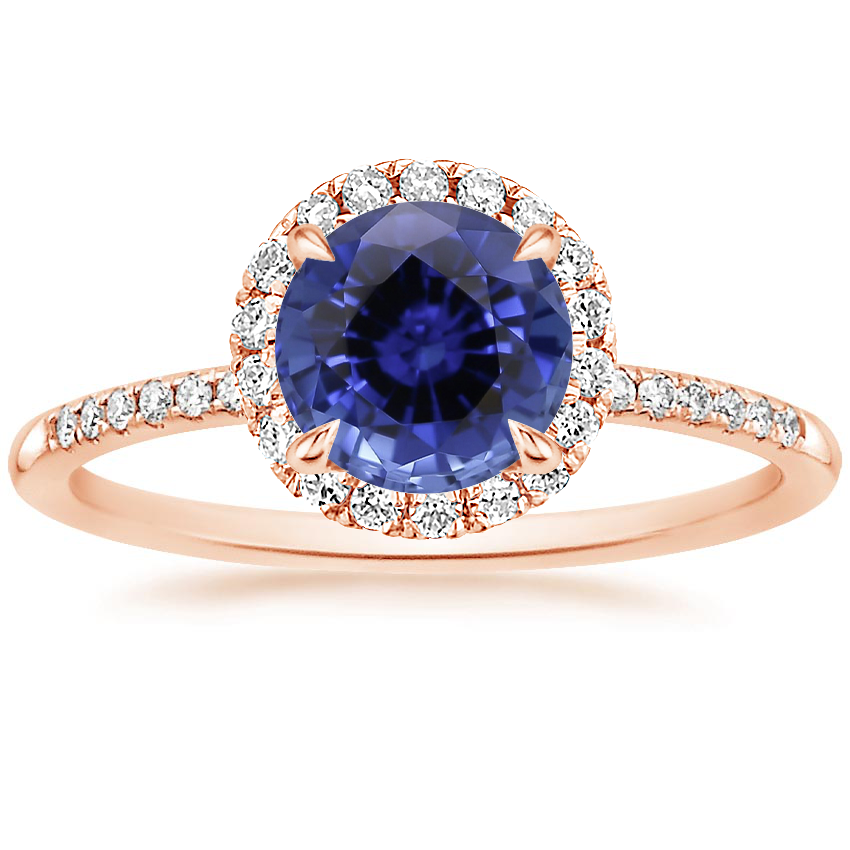 Rose Gold Sapphire Cambria Diamond Ring
