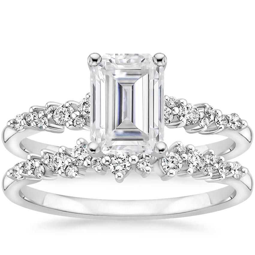 PT Moissanite Aurora Diamond Bridal Set (1/3 ct. tw.), top view
