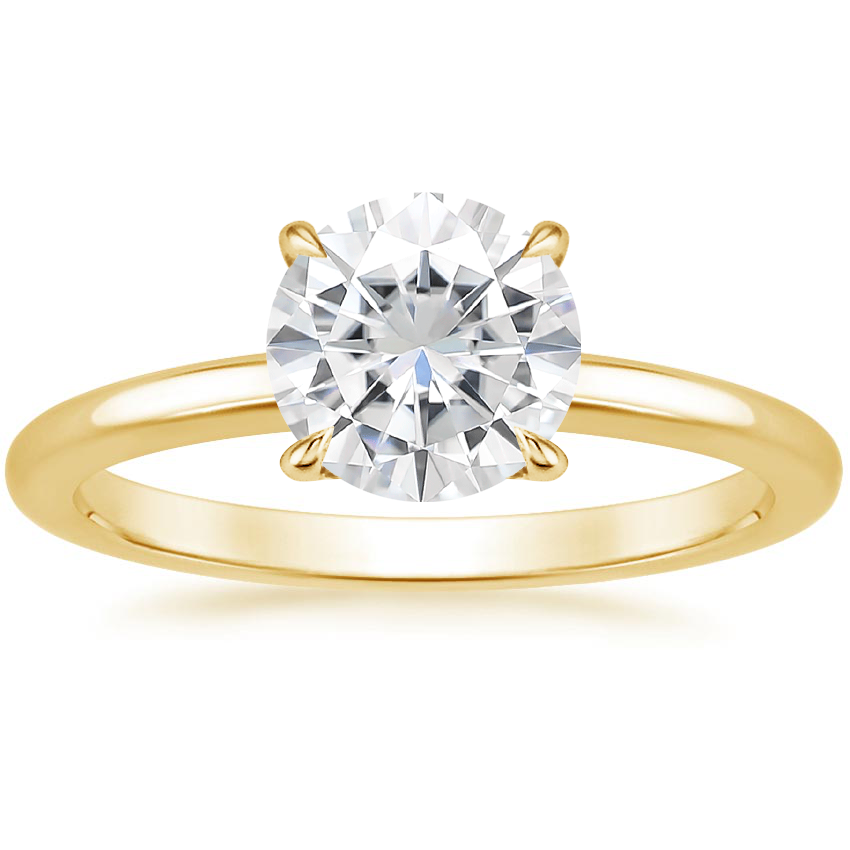 Yellow Gold Moissanite Elodie Ring