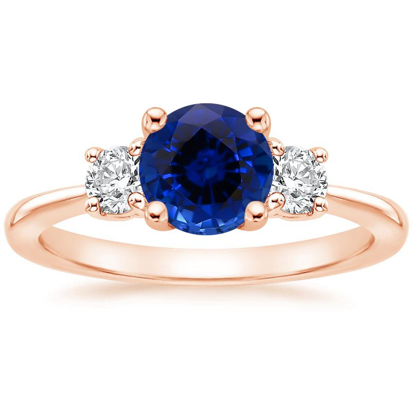 Rose Gold Sapphire Serena Diamond Ring (1/3 ct. tw.)