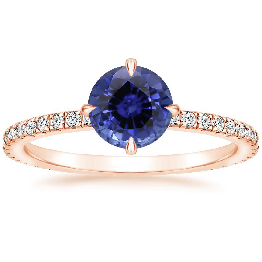 Rose Gold Sapphire Polaris Diamond Ring