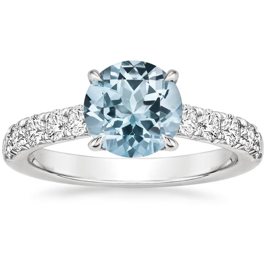 Aquamarine Luxe Anthology Diamond Ring (1/2 ct. tw.) in 18K White Gold