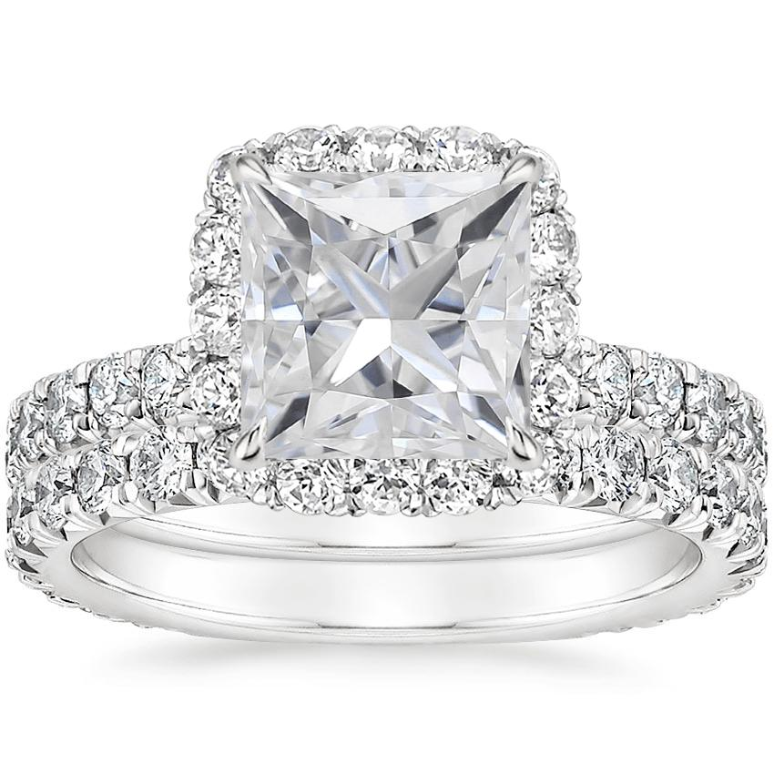 PT Moissanite Estelle Diamond Bridal Set (1 1/3 ct. tw.), top view