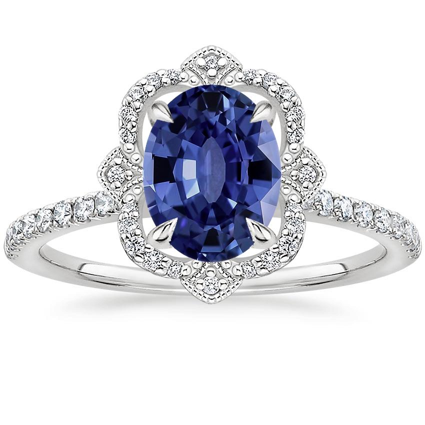 Sapphire Reina Diamond Ring in Platinum