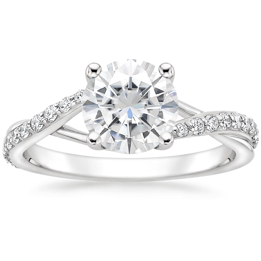 Moissanite Luxe Chamise Diamond Ring (1/5 ct. tw.) in 18K White Gold
