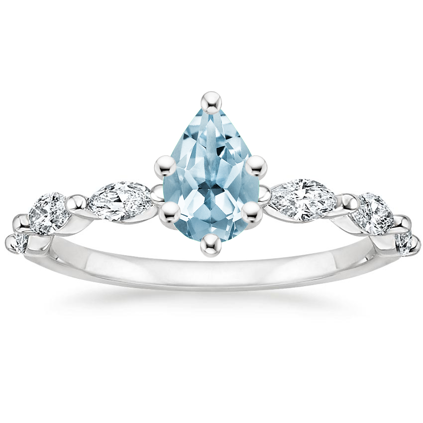 Aquamarine Joelle Diamond Ring (1/3 ct. tw.) in Platinum