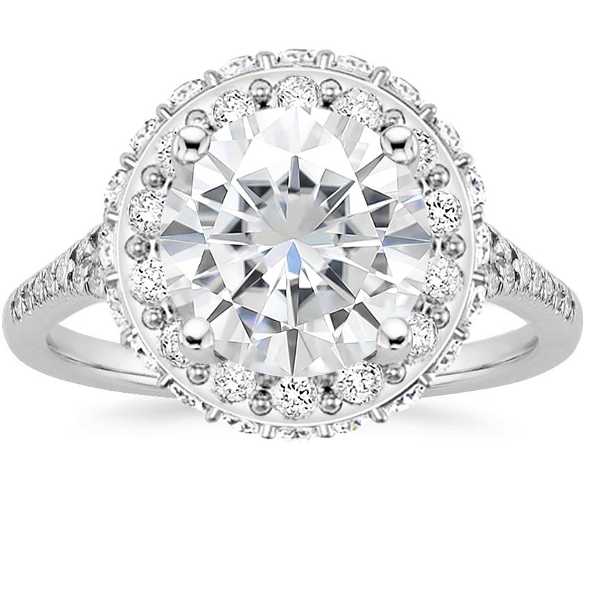 Moissanite Circa Diamond Ring (1/2 ct. tw.) in 18K White Gold