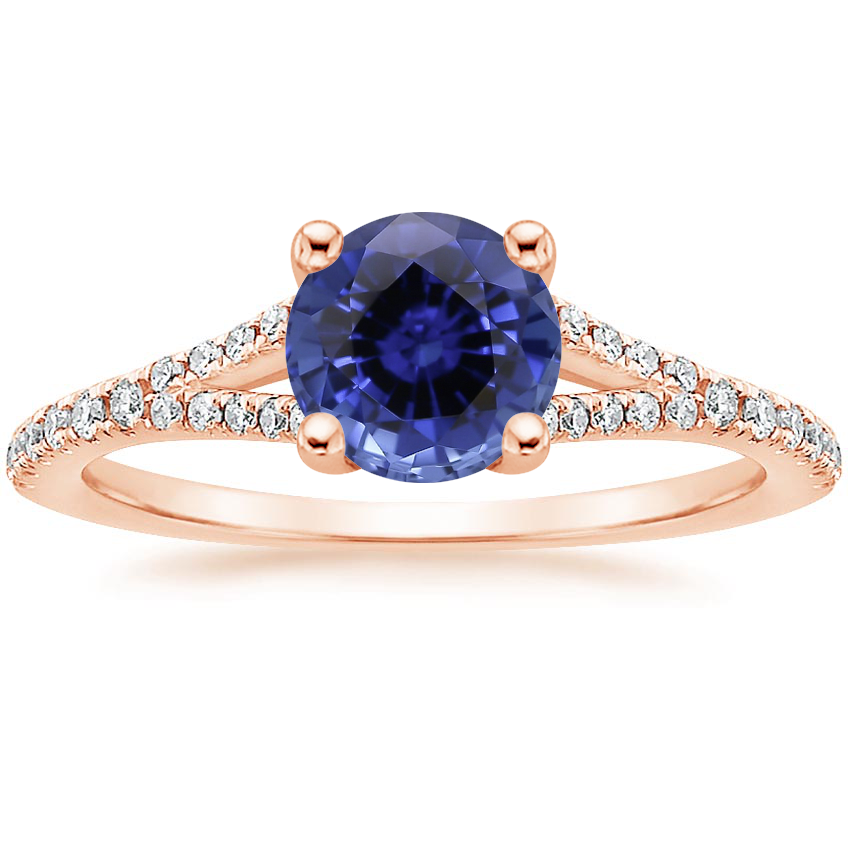 Rose Gold Sapphire Flair Diamond Ring