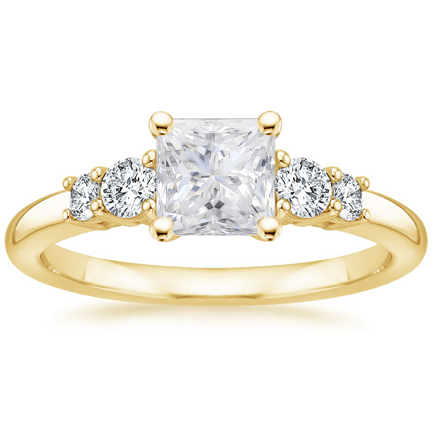 Yellow Gold Moissanite Rialto Diamond Ring (1/4 ct. tw.)