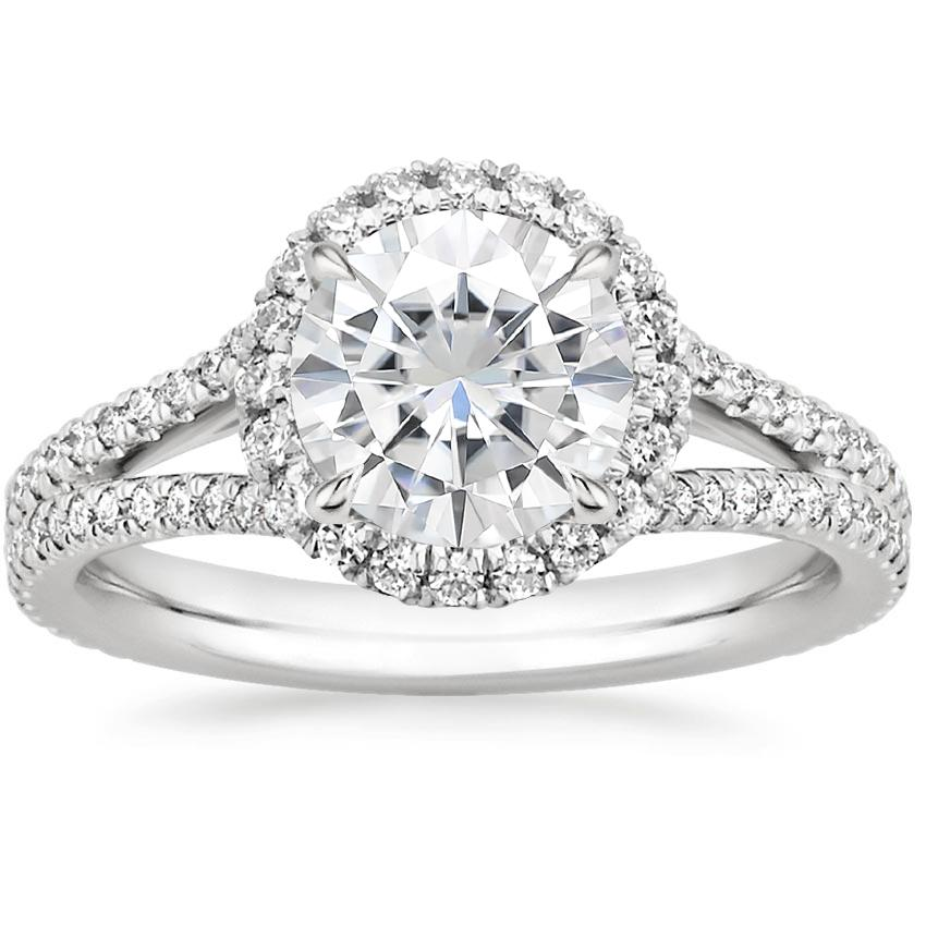Moissanite Fortuna Diamond Ring (1/2 ct. tw.) in 18K White Gold