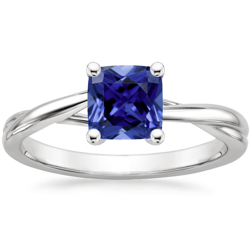 Sapphire Grace Ring in 18K White Gold