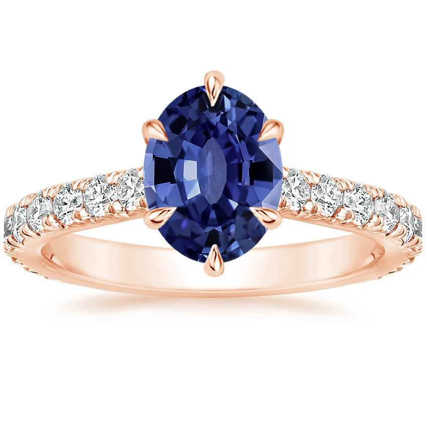 Rose Gold Sapphire Luxe Sienna Diamond Ring (1/2 ct. tw.)