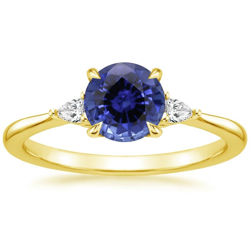Yellow Gold Sapphire Aria Diamond Ring (1/10 ct. tw.)