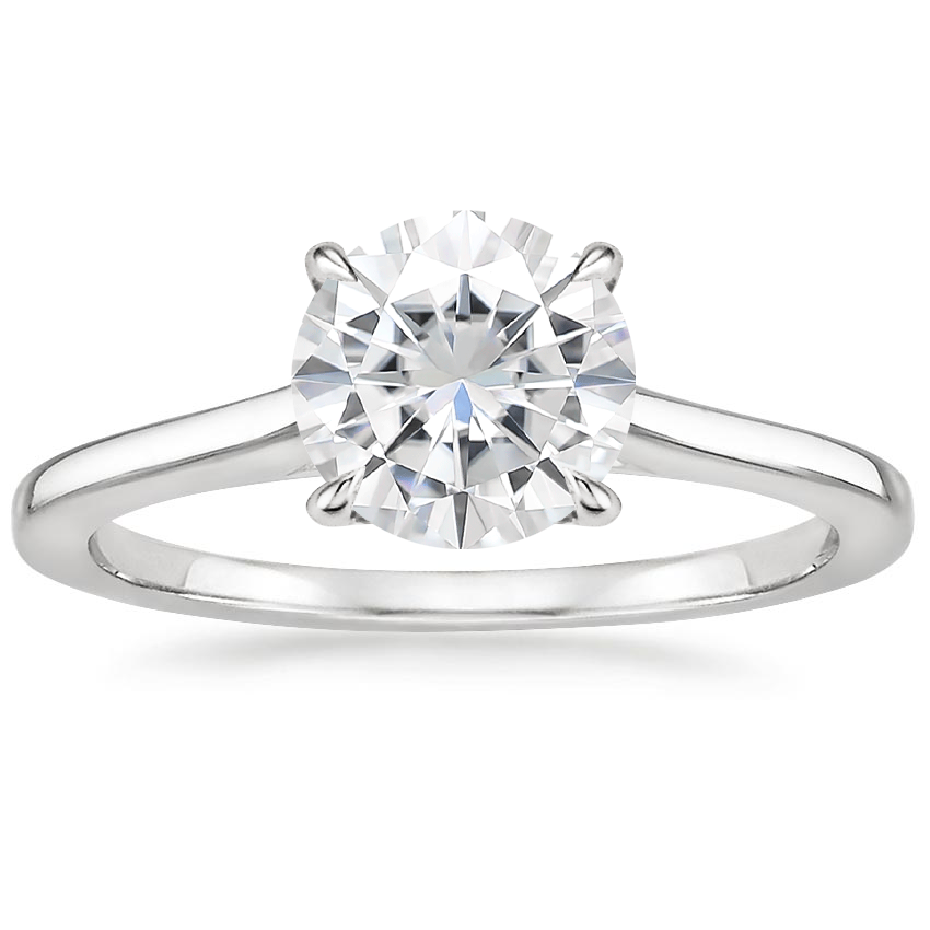 Moissanite Provence Ring in Platinum