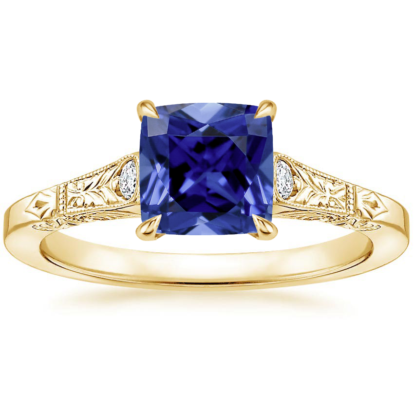 Yellow Gold Sapphire Valentina Diamond Ring