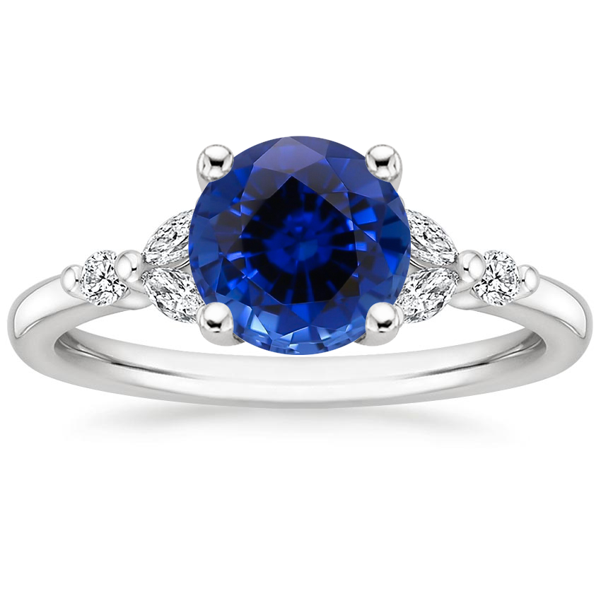 Sapphire Verbena Diamond Ring in Platinum