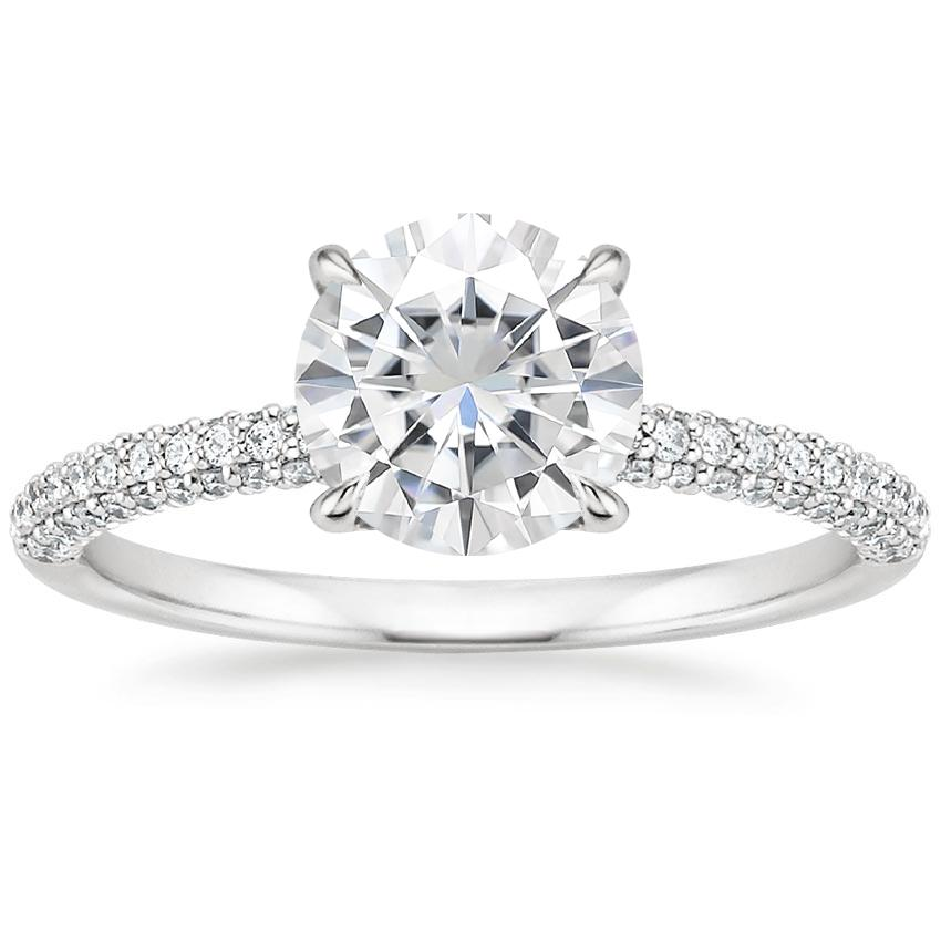 Moissanite Valencia Diamond Ring (1/3 ct. tw.) in 18K White Gold