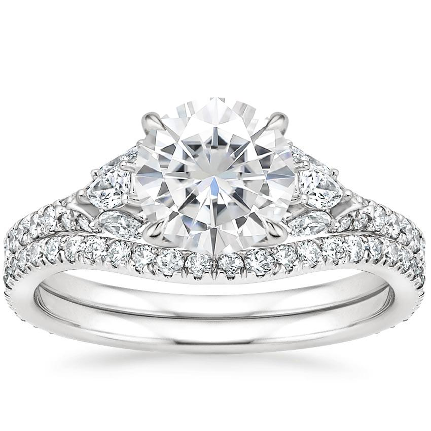 18KW Moissanite Ava Diamond Bridal Set (3/4 ct. tw.), top view