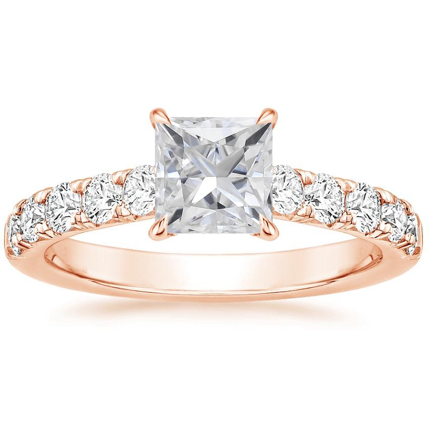 Rose Gold Moissanite Luxe Anthology Diamond Ring (1/2 ct. tw.)