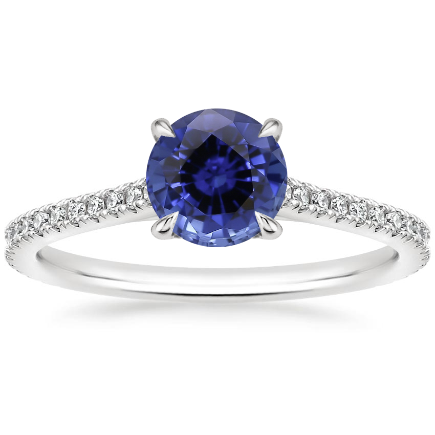 Sapphire Luxe Lissome Diamond Ring (1/5 ct. tw.) in 18K White Gold