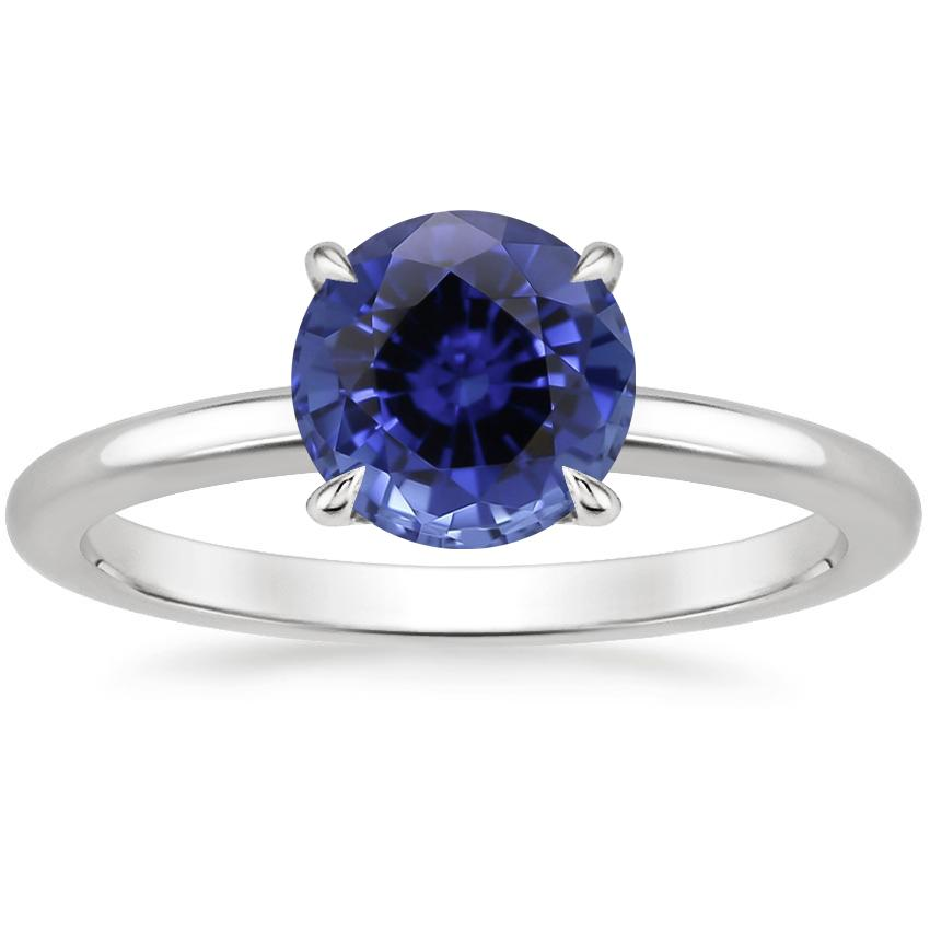 Sapphire Elodie Ring in 18K White Gold