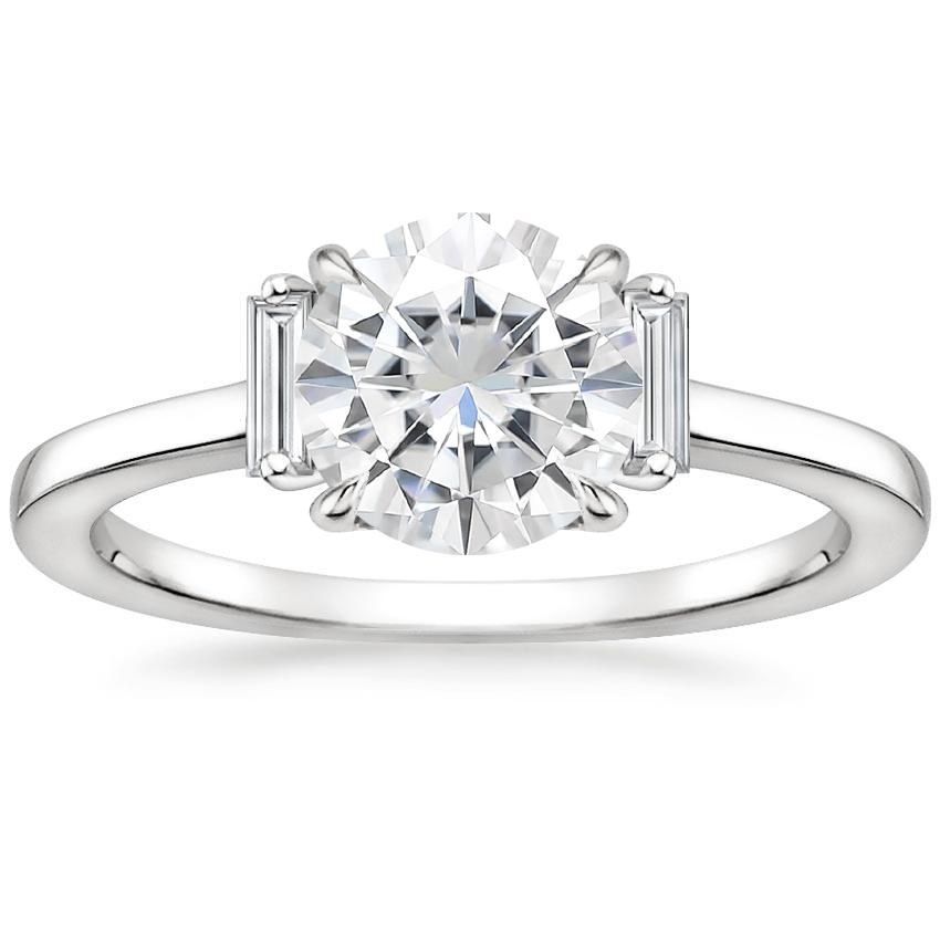 Moissanite Piper Diamond Ring in 18K White Gold