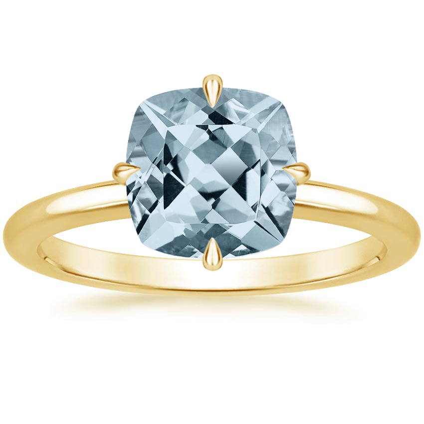 Yellow Gold Aquamarine North Star Ring