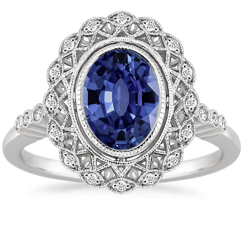 Sapphire Alvadora Diamond Ring in Platinum