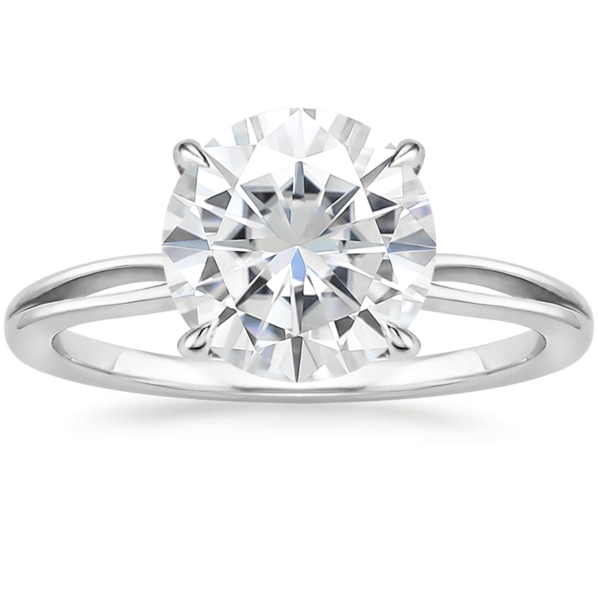 Moissanite Kalina Ring in 18K White Gold