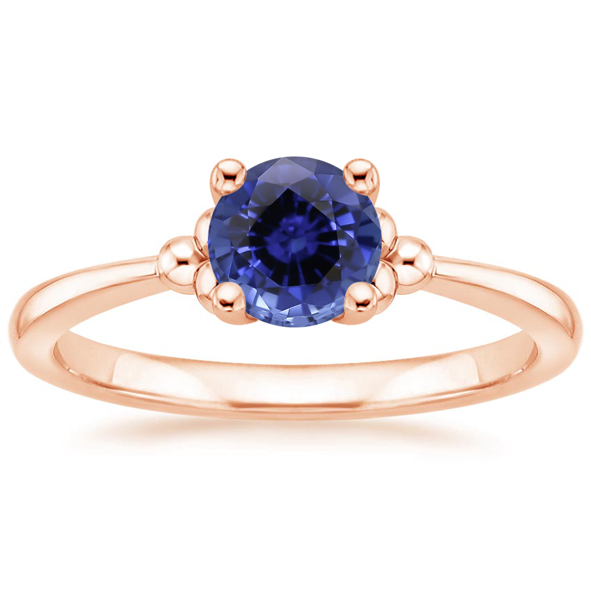 Rose Gold Sapphire Soiree Ring