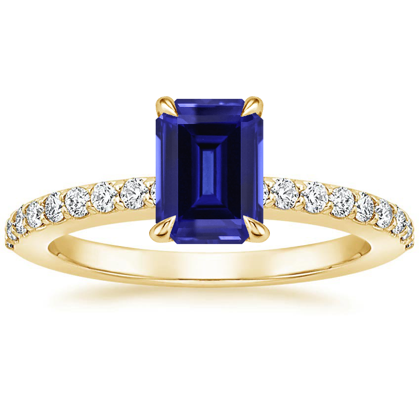 Yellow Gold Sapphire Luxe Elodie Diamond Ring (1/4 ct. tw.)