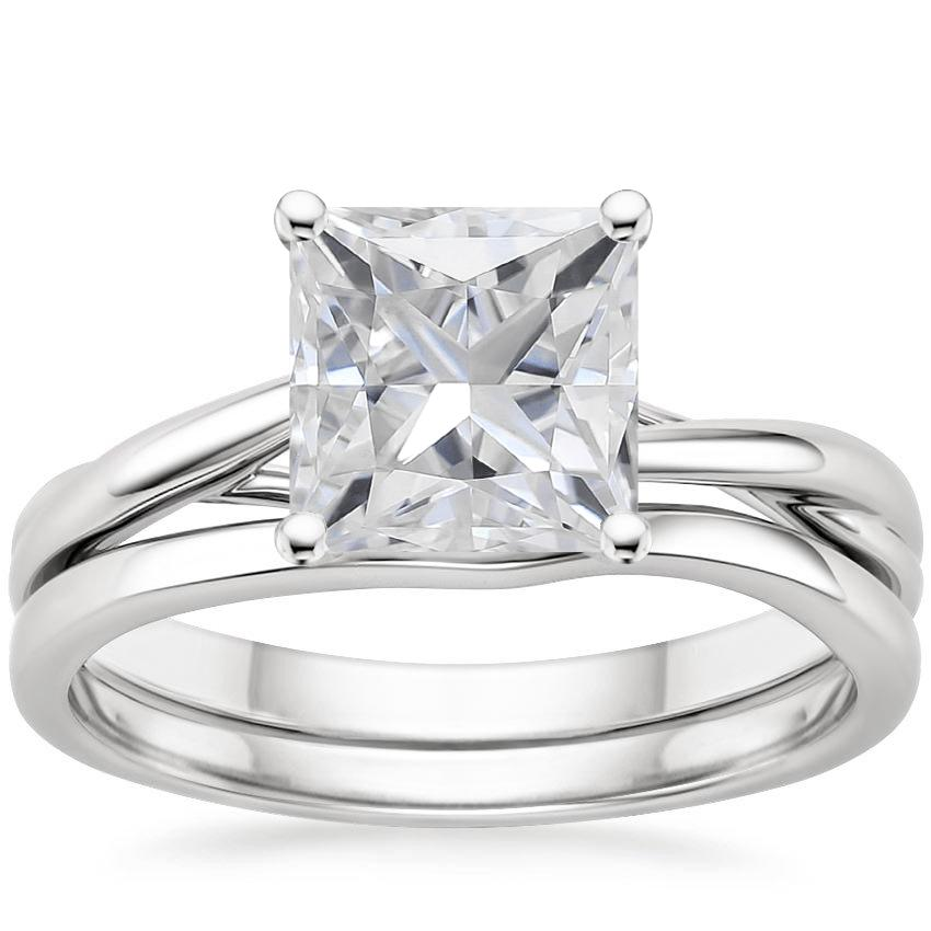18KW Moissanite Grace Bridal Set, top view
