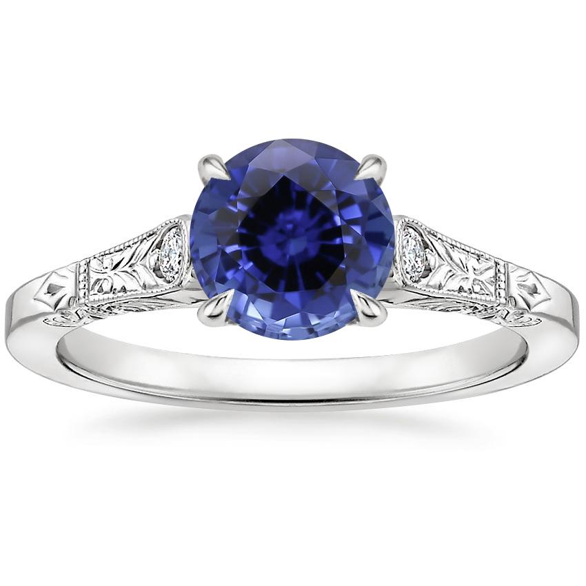 Sapphire Valentina Diamond Ring in Platinum