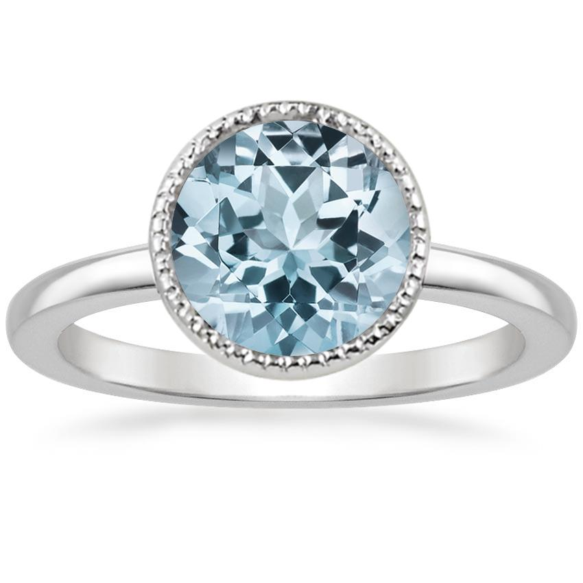 Aquamarine Sierra Ring in 18K White Gold