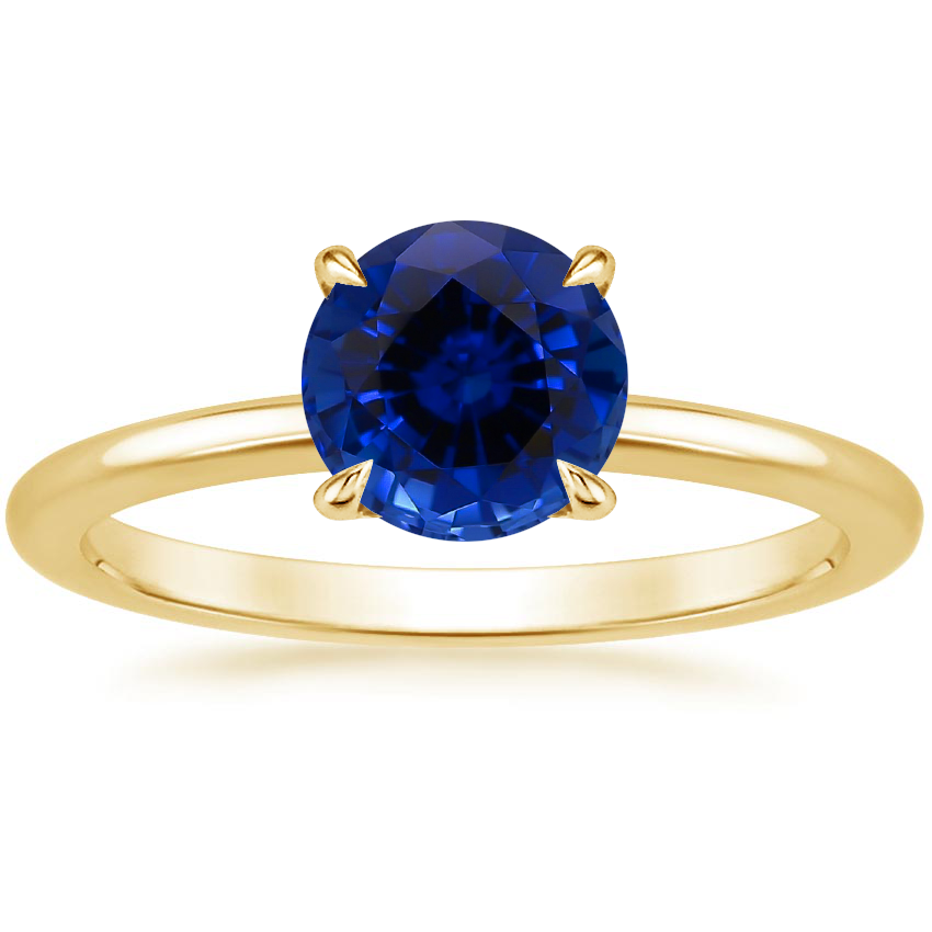 Yellow Gold Sapphire Everly Diamond Ring