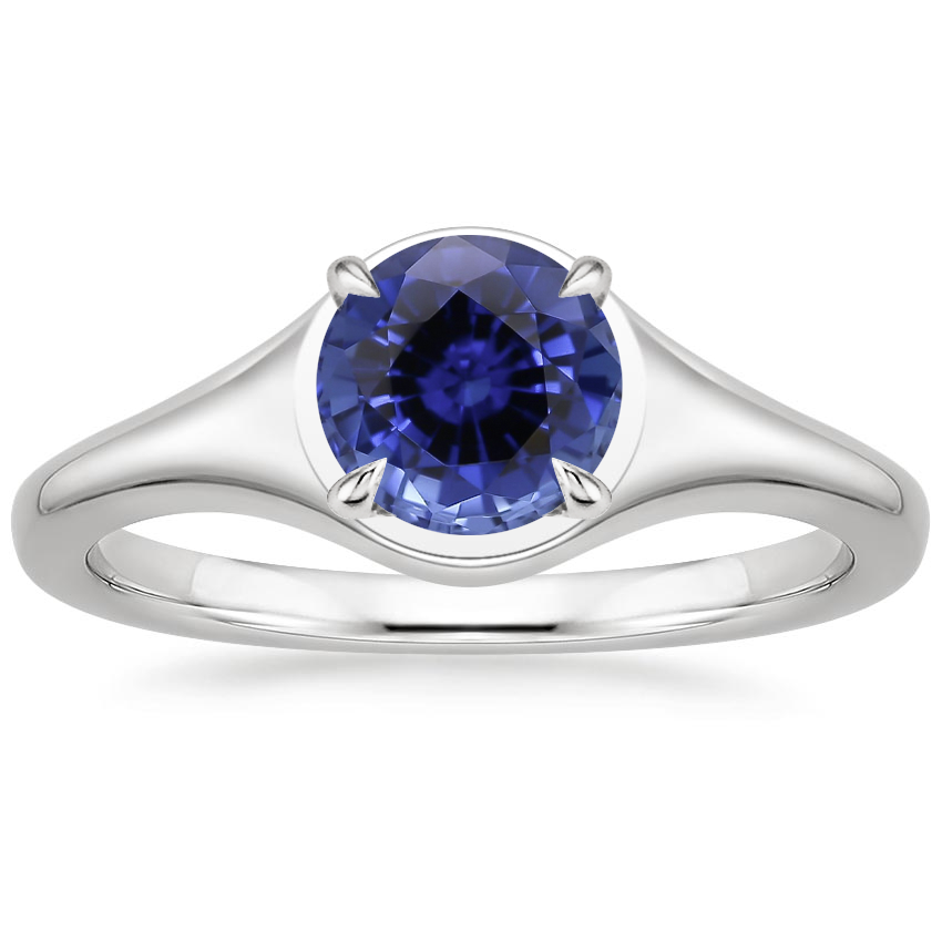 Sapphire Insignia Ring in 18K White Gold