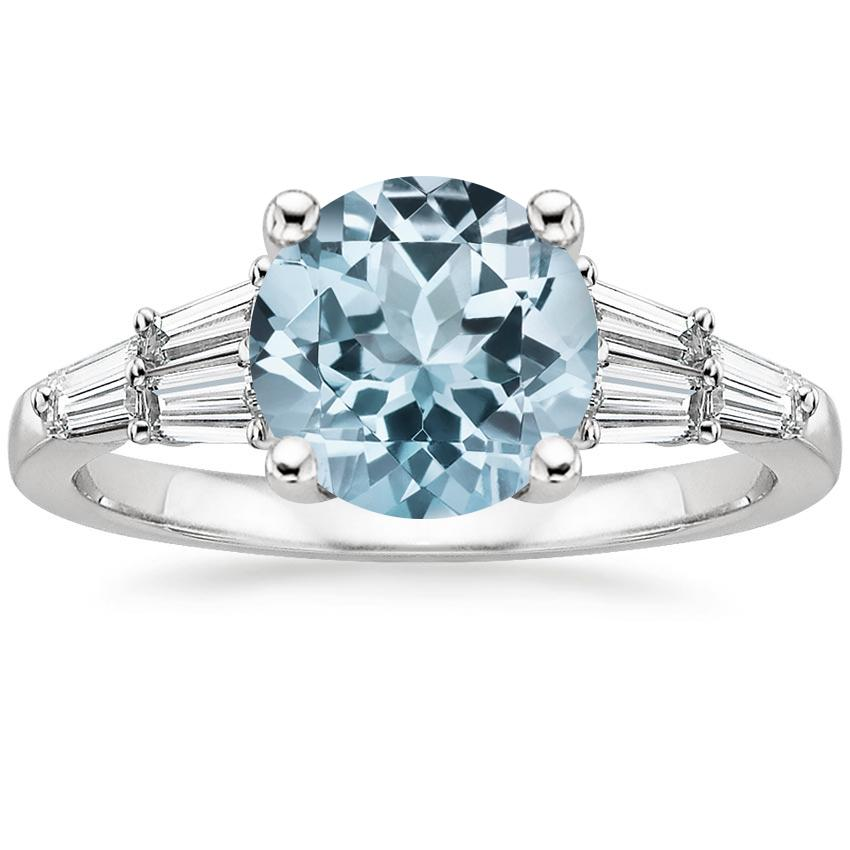Aquamarine Harlow Diamond Ring (1/2 ct. tw.) in 18K White Gold