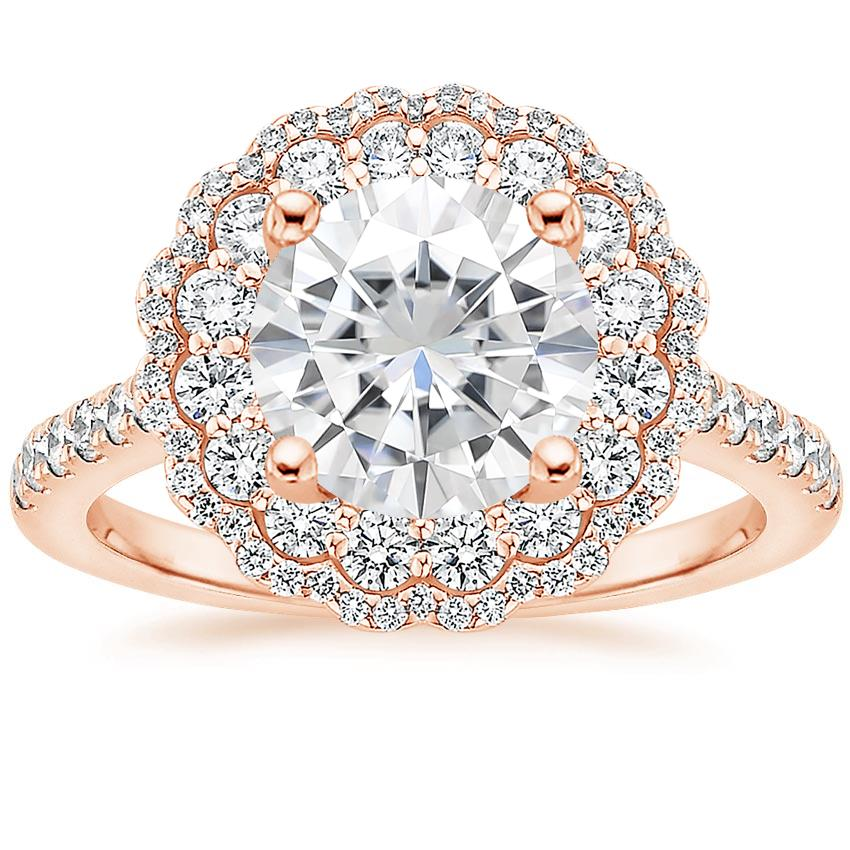 Rose Gold Moissanite Rosa Diamond Ring