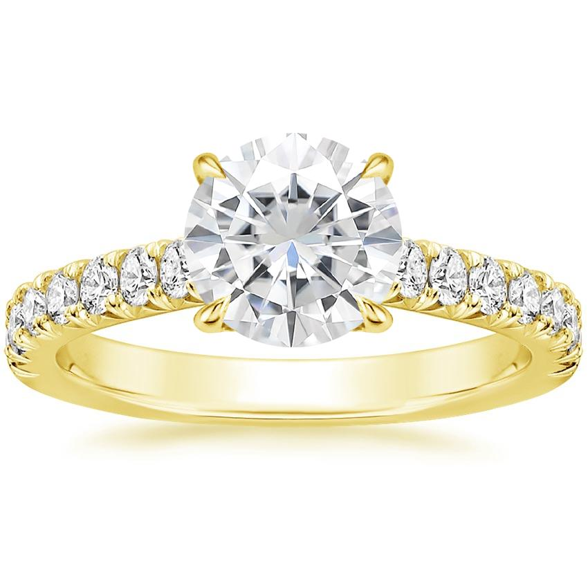 Yellow Gold Moissanite Sienna Diamond Ring (3/8 ct. tw.)