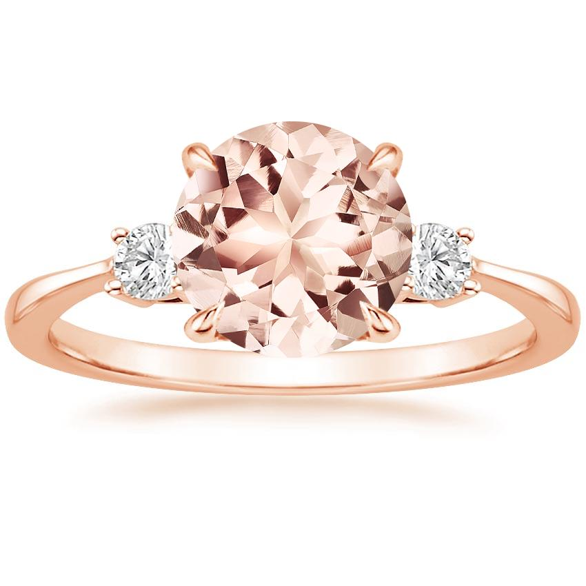 morganite selene diamond ring in 14k rose gold. Black Bedroom Furniture Sets. Home Design Ideas