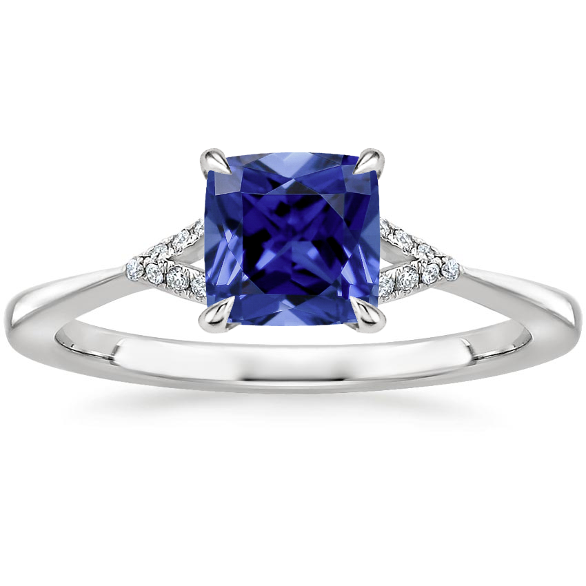 Sapphire Zoe Diamond Ring in Platinum