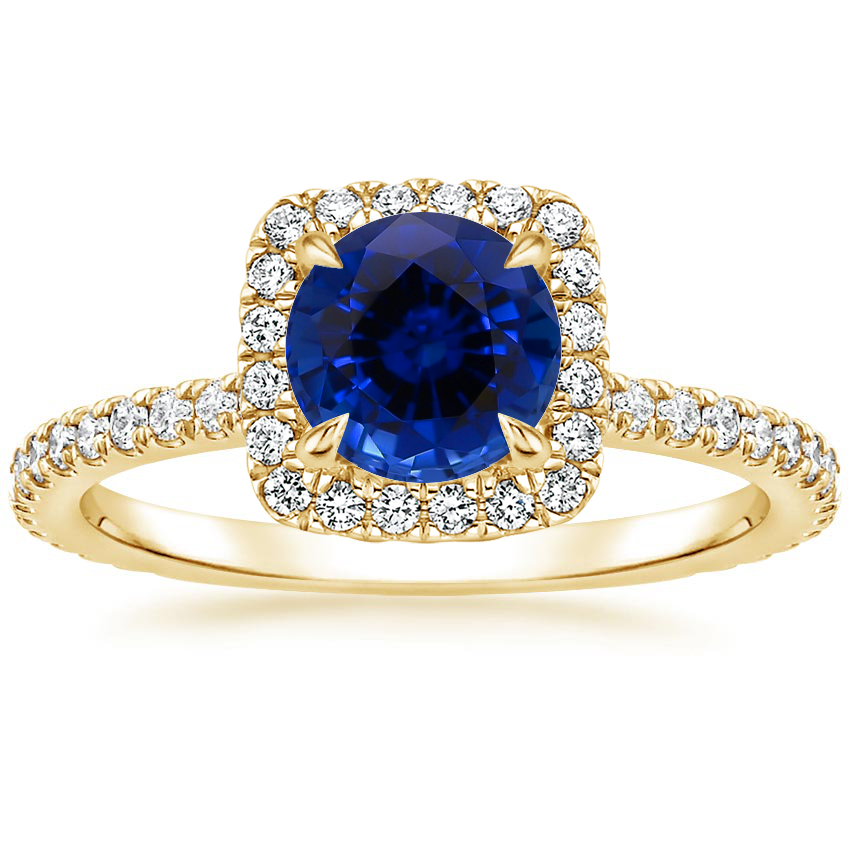 Yellow Gold Sapphire Giselle Diamond Ring (1/2 ct. tw.)