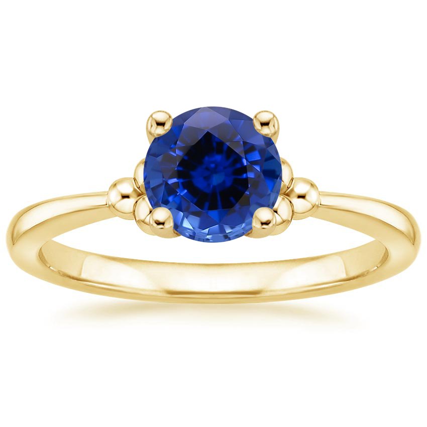 Yellow Gold Sapphire Soiree Ring
