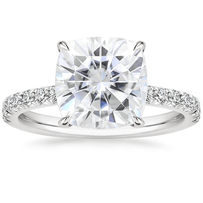 Moissanite Amelie Diamond Ring (1/3 ct. tw.) in 18K White Gold