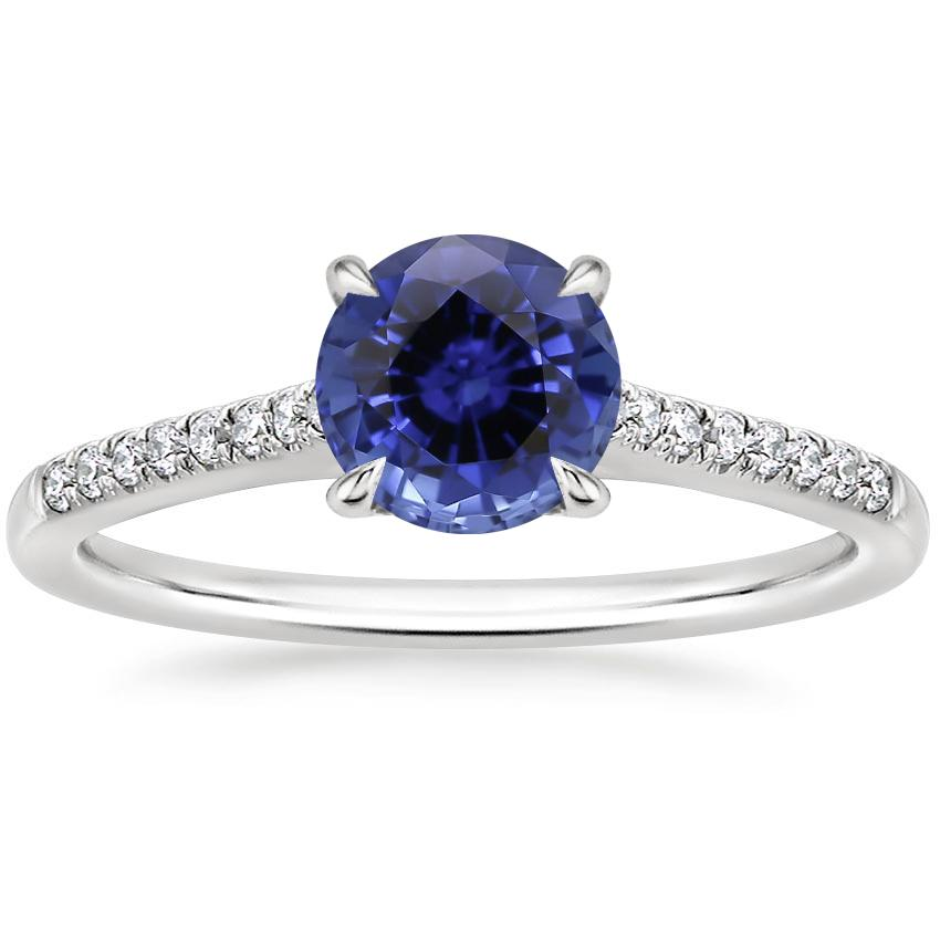 Sapphire Lissome Diamond Ring (1/10 ct. tw.) in 18K White Gold