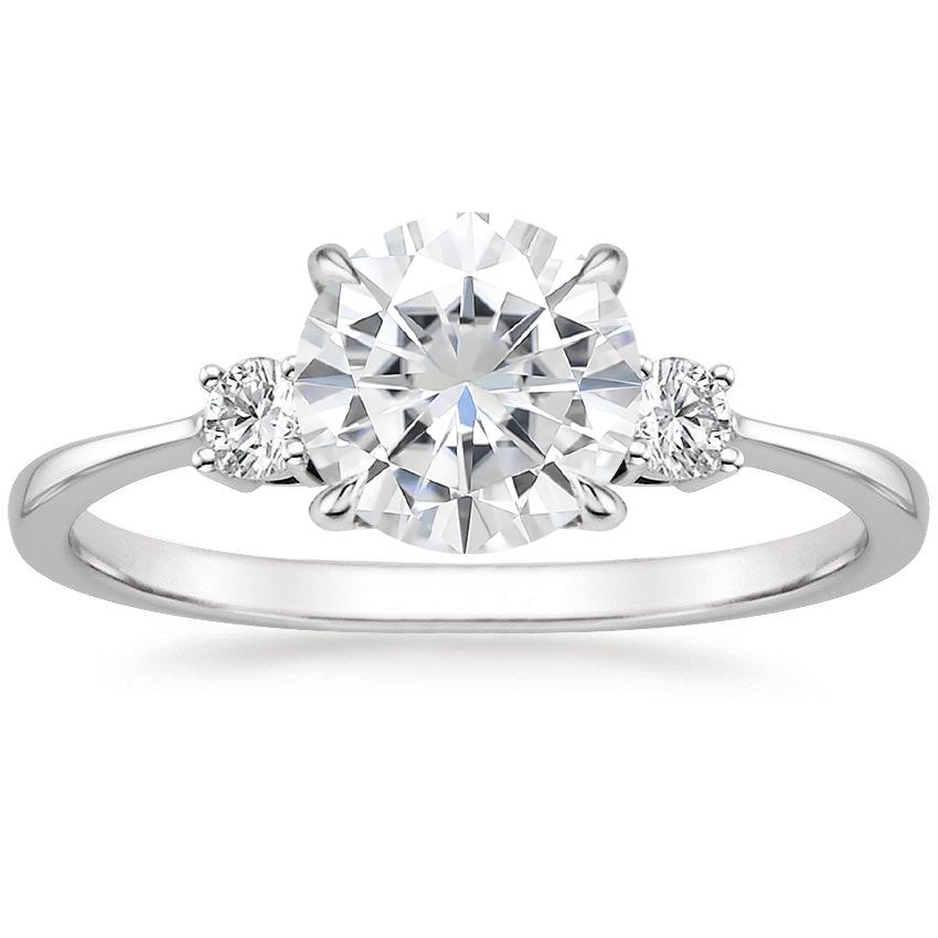 Moissanite Selene Diamond Ring in Platinum