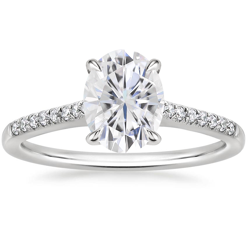 Moissanite Lissome Diamond Ring (1/10 ct. tw.) in Platinum